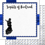 Scrapbook Customs - Sights Collection - 12 x 12 Double Sided Paper - Flag - Finland