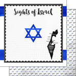 Scrapbook Customs - Sights Collection - 12 x 12 Double Sided Paper - Flag - Israel