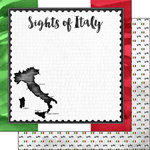Scrapbook Customs - Sights Collection - 12 x 12 Double Sided Paper - Flag - Italy
