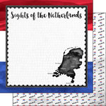 Scrapbook Customs - Sights Collection - 12 x 12 Double Sided Paper - Flag - Netherlands