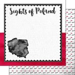 Scrapbook Customs - Sights Collection - 12 x 12 Double Sided Paper - Flag - Poland