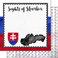 Scrapbook Customs - Sights Collection - 12 x 12 Double Sided Paper - Flag - Slovakia