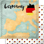 Scrapbook Customs - Sights Collection - 12 x 12 Double Sided Paper - Map - Germany
