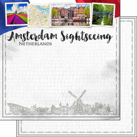 Scrapbook Customs - Sights Collection - 12 x 12 Double Sided Paper - City - Amsterdam