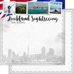 Scrapbook Customs - Sights Collection - 12 x 12 Double Sided Paper - City - Auckland