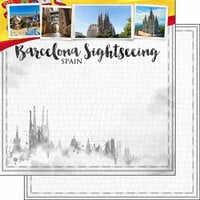 Scrapbook Customs - Sights Collection - 12 x 12 Double Sided Paper - City - Barcelona