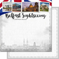 Scrapbook Customs - Sights Collection - 12 x 12 Double Sided Paper - City - Belfast