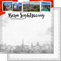Scrapbook Customs - Sights Collection - 12 x 12 Double Sided Paper - City - Bern