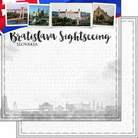 Scrapbook Customs - Sights Collection - 12 x 12 Double Sided Paper - City - Bratislava