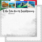 Scrapbook Customs - Sights Collection - 12 x 12 Double Sided Paper - City - Cabo San Lucas