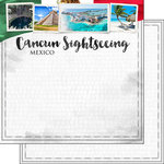 Scrapbook Customs - Sights Collection - 12 x 12 Double Sided Paper - City - Cancun