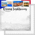 Scrapbook Customs - Sights Collection - 12 x 12 Double Sided Paper - City - Cannes