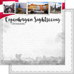 Scrapbook Customs - Sights Collection - 12 x 12 Double Sided Paper - City - Copenhagen