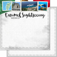 Scrapbook Customs - Sights Collection - 12 x 12 Double Sided Paper - City - Cozumel