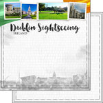 Scrapbook Customs - Sights Collection - 12 x 12 Double Sided Paper - City - Dublin