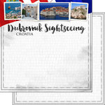 Scrapbook Customs - Sights Collection - 12 x 12 Double Sided Paper - City - Dubrovnik