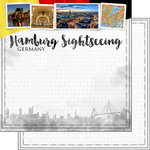 Scrapbook Customs - Sights Collection - 12 x 12 Double Sided Paper - City - Hamburg