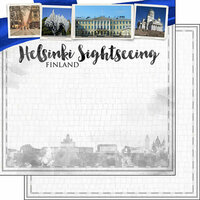 Scrapbook Customs - Sights Collection - 12 x 12 Double Sided Paper - City - Helsinki