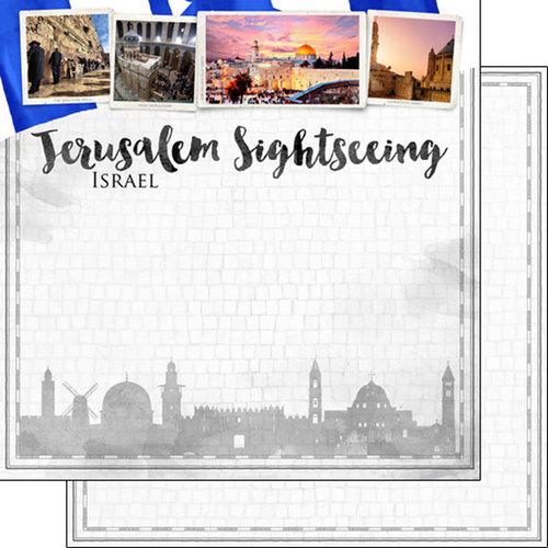 Scrapbook Customs - Sights Collection - 12 x 12 Double Sided Paper - City - Jerusalem
