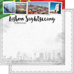 Scrapbook Customs - Sights Collection - 12 x 12 Double Sided Paper - City - Lisbon