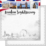 Scrapbook Customs - Sights Collection - 12 x 12 Double Sided Paper - City - London