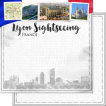 Scrapbook Customs - Sights Collection - 12 x 12 Double Sided Paper - City - Lyon