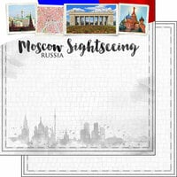 Scrapbook Customs - Sights Collection - 12 x 12 Double Sided Paper - City - Moscow
