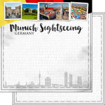 Scrapbook Customs - Sights Collection - 12 x 12 Double Sided Paper - City - Munich