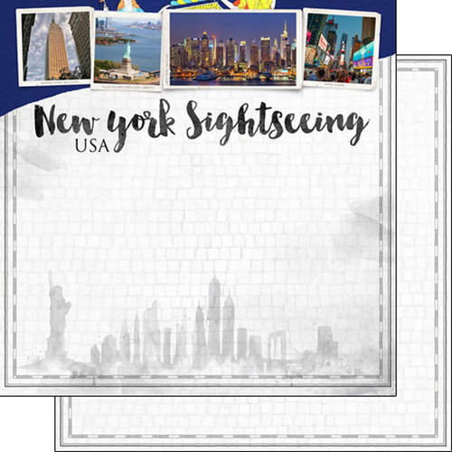 Scrapbook Customs - Sights Collection - 12 x 12 Double Sided Paper - City - New York