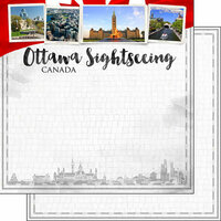 Scrapbook Customs - Sights Collection - 12 x 12 Double Sided Paper - City - Ottawa
