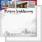 Scrapbook Customs - Sights Collection - 12 x 12 Double Sided Paper - City - Prague
