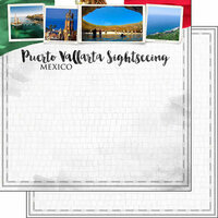 Scrapbook Customs - Sights Collection - 12 x 12 Double Sided Paper - City - Puerto Vallarta