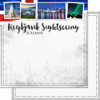 Scrapbook Customs - Sights Collection - 12 x 12 Double Sided Paper - City - Reykjavik