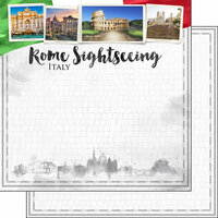 Scrapbook Customs - Sights Collection - 12 x 12 Double Sided Paper - City - Rome