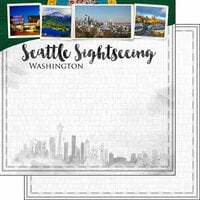 Scrapbook Customs - Sights Collection - 12 x 12 Double Sided Paper - City - Seattle