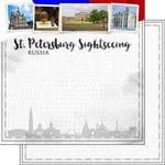 Scrapbook Customs - Sights Collection - 12 x 12 Double Sided Paper - City - St. Petersburg