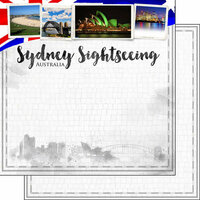 Scrapbook Customs - Sights Collection - 12 x 12 Double Sided Paper - City - Sydney