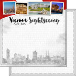 Scrapbook Customs - Sights Collection - 12 x 12 Double Sided Paper - City - Vienna
