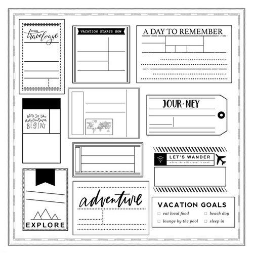 Scrapbook Customs - 12 x 12 Paper - Travel Tags Cut Outs