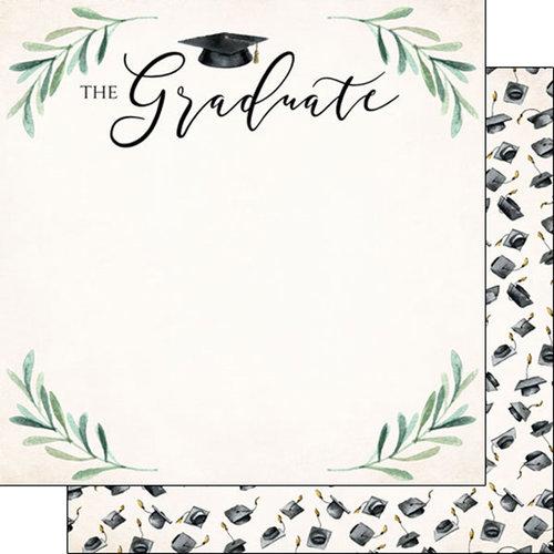 Scrapbook Customs - 12 x 12 Double Sided Paper - Graduate Watercolor