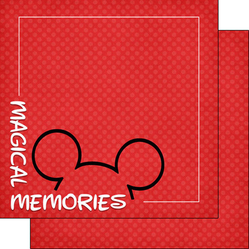 Scrapbook Customs - Magical Collection - 12 x 12 Double Sided Paper - Magical Memories Corner