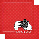 Scrapbook Customs - Magical Collection - 12 x 12 Double Sided Paper - Magical Say Cheese
