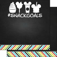 Scrapbook Customs - Magical Collection - 12 x 12 Double Sided Paper - Magical Snack Goals