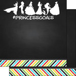 Scrapbook Customs - Magical Collection - 12 x 12 Double Sided Paper - Magical Princess Goals
