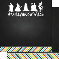 Scrapbook Customs - Magical Collection - 12 x 12 Double Sided Paper - Magical Villain Goals
