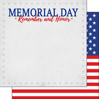 Scrapbook Customs - 12 x 12 Double Sided Paper - Memorial Day
