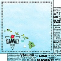 Scrapbook Customs - Postage Map Collection - 12 x 12 Double Sided Paper - Hawaii