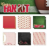 Scrapbook Customs - Football Fan Collection - 12 x 12 Collection Kit - 49ers