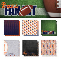 Scrapbook Customs - Football Fan Collection - 12 x 12 Collection Kit - Bears