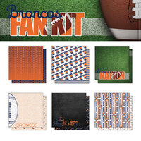 Scrapbook Customs - Football Fan Collection - 12 x 12 Collection Kit - Broncos